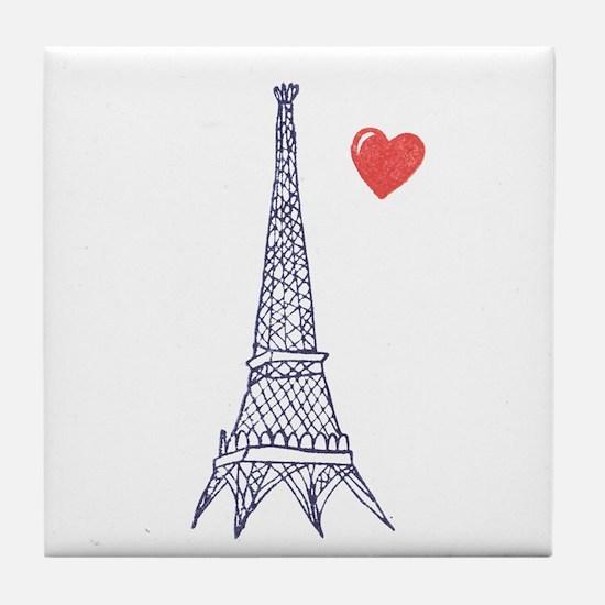 Paris in Love - Tile Coaster
