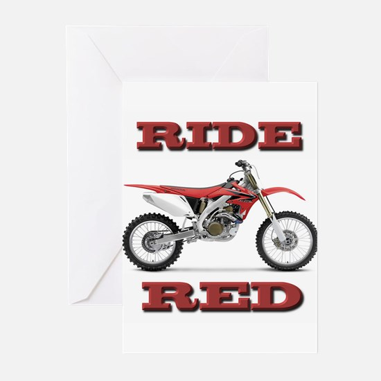 RideRed 08 Greeting Cards (Pk of 20)