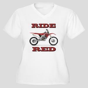 RideRed 08 Women's Plus Size V-Neck T-Shirt