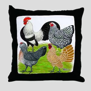 Bantam Quartet Throw Pillow