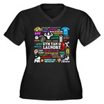 Jersey GTL Women's Plus Size V-Neck Dark T-Shirt