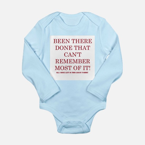 Been There Done that Long Sleeve Infant Bodysuit
