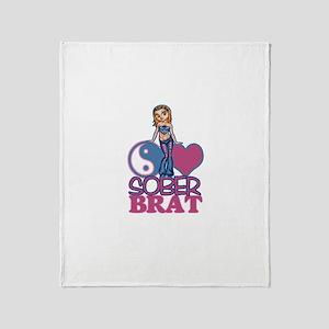 Sober Brat 2 Throw Blanket