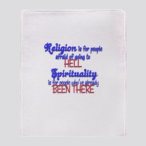Religion VS spirituality Throw Blanket