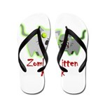 Zombie Kitten Flip Flops