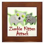 Zombie Kitten Framed Tile
