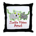 Zombie Kitten Throw Pillow
