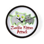 Zombie Kitten Wall Clock