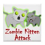 Zombie Kitten Tile Coaster