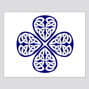 Navy Blue Shamrock Celtic Kno Small Poster