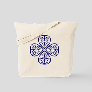 Navy Blue Shamrock Celtic Kno Tote Bag