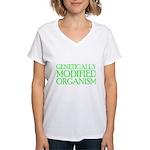 Genetically Modified Organism Women's V-Neck T-Shi