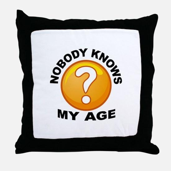 TAKE A GUESS Throw Pillow