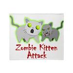 Zombie Kitten Throw Blanket