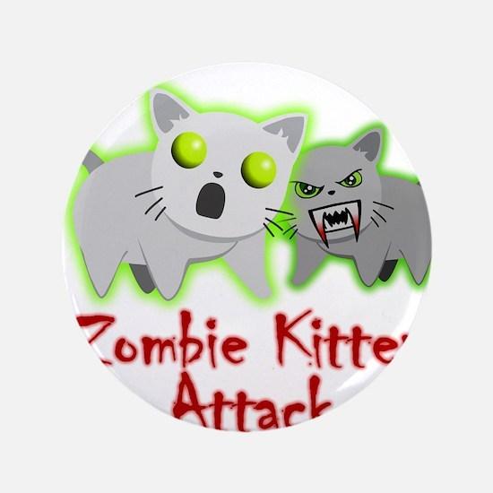"Zombie Kitten 3.5"" Button (100 pack)"
