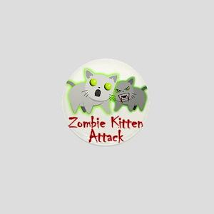 Zombie Kitten Mini Button
