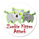 Zombie Kitten Round Car Magnet