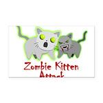 Zombie Kitten Rectangle Car Magnet