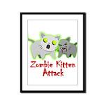 Zombie Kitten Framed Panel Print
