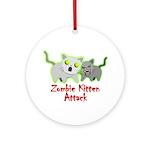Zombie Kitten Round Ornament