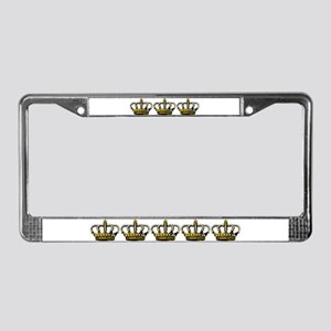 Royal Wedding Crown License Plate Frame