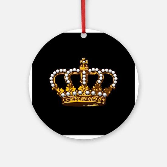 Royal Wedding Crown Ornament (Round)