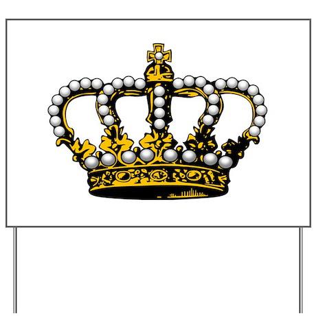 Royal Wedding Crown Yard Sign