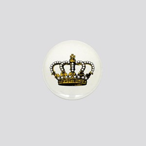 Royal Wedding Crown Mini Button