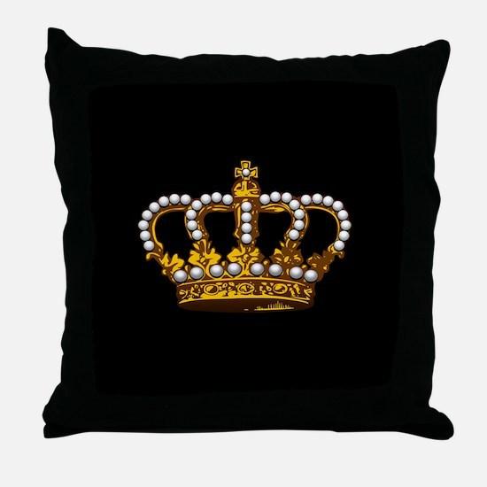 Royal Wedding Crown Throw Pillow