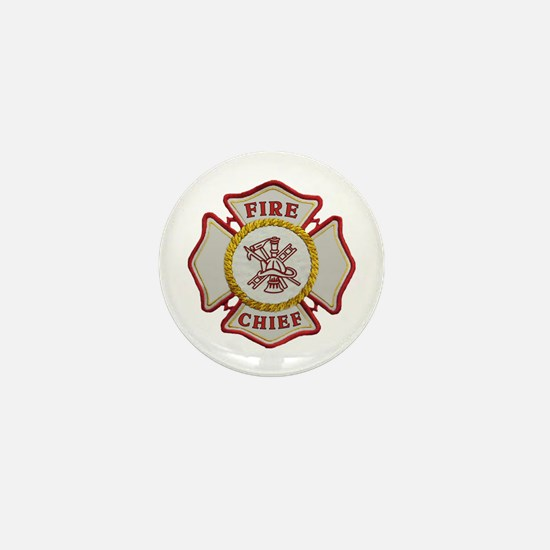 Fire Chief Maltese Mini Button