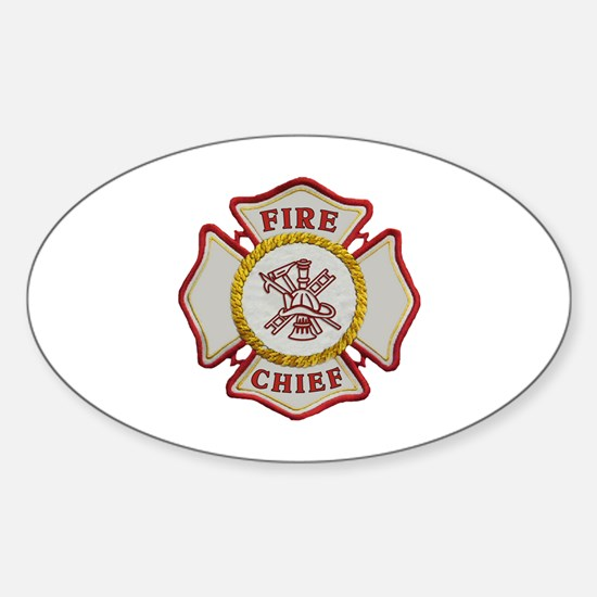 Fire Chief Maltese Sticker (Oval)