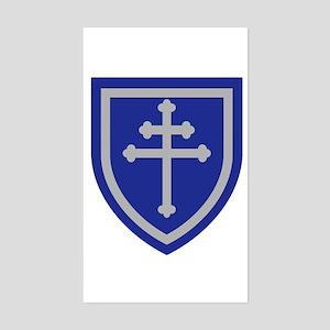 Cross of Lorraine Sticker (Rectangle)