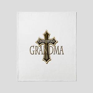 Christian Grandma Throw Blanket