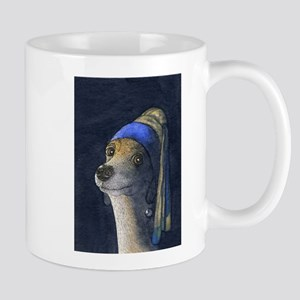 Dog with a pearl earring Mug