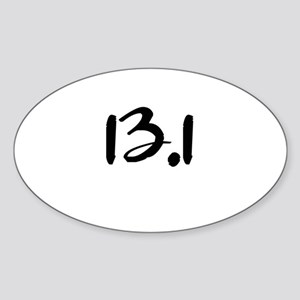 13.1 Sticker (Oval)