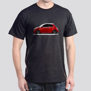 Snow Covered Fiat 500 Dark T-Shirt