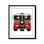 Firefighters and Fire Engine Framed Panel Print