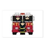Firefighters and Fire Engine Postcard (Pk of 8)