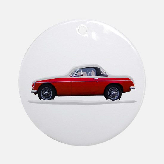Snow Covered MG Ornament (Round)