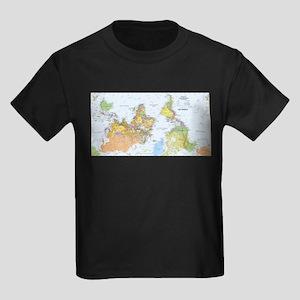 2-Map A World Turner Upsidedown T-Shirt