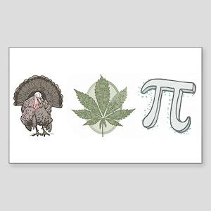 Turkey Pot Pie Sticker (Rectangle)