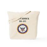 USS CARMICK Tote Bag