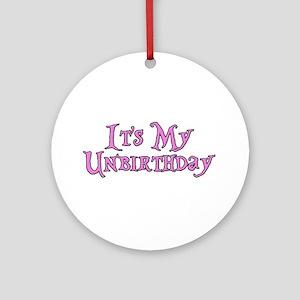 It's My Unbirthday Alice in Wonderland Ornament (R