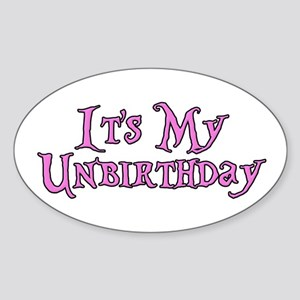 It's My Unbirthday Alice in Wonderland Sticker (Ov