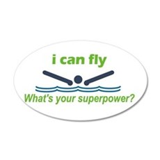 I Can Fly 22x14 Oval Wall Peel