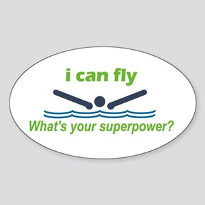 I Can Fly Sticker (Oval)
