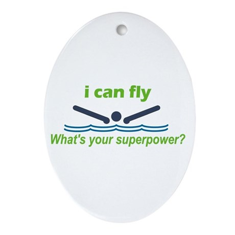 I Can Fly Ornament (Oval)