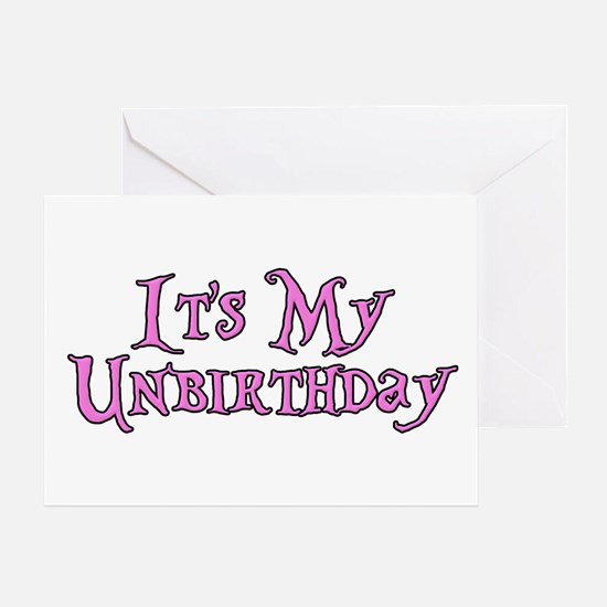 It's My Unbirthday Alice in Wonderland Greeting Ca