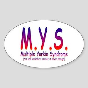 Yorkshire Terrier Sticker (Oval)