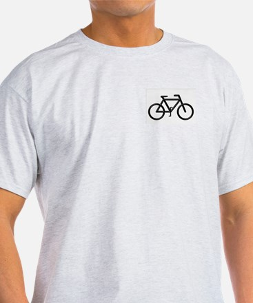 """Black Bike"" Ash Grey T-Shirt"